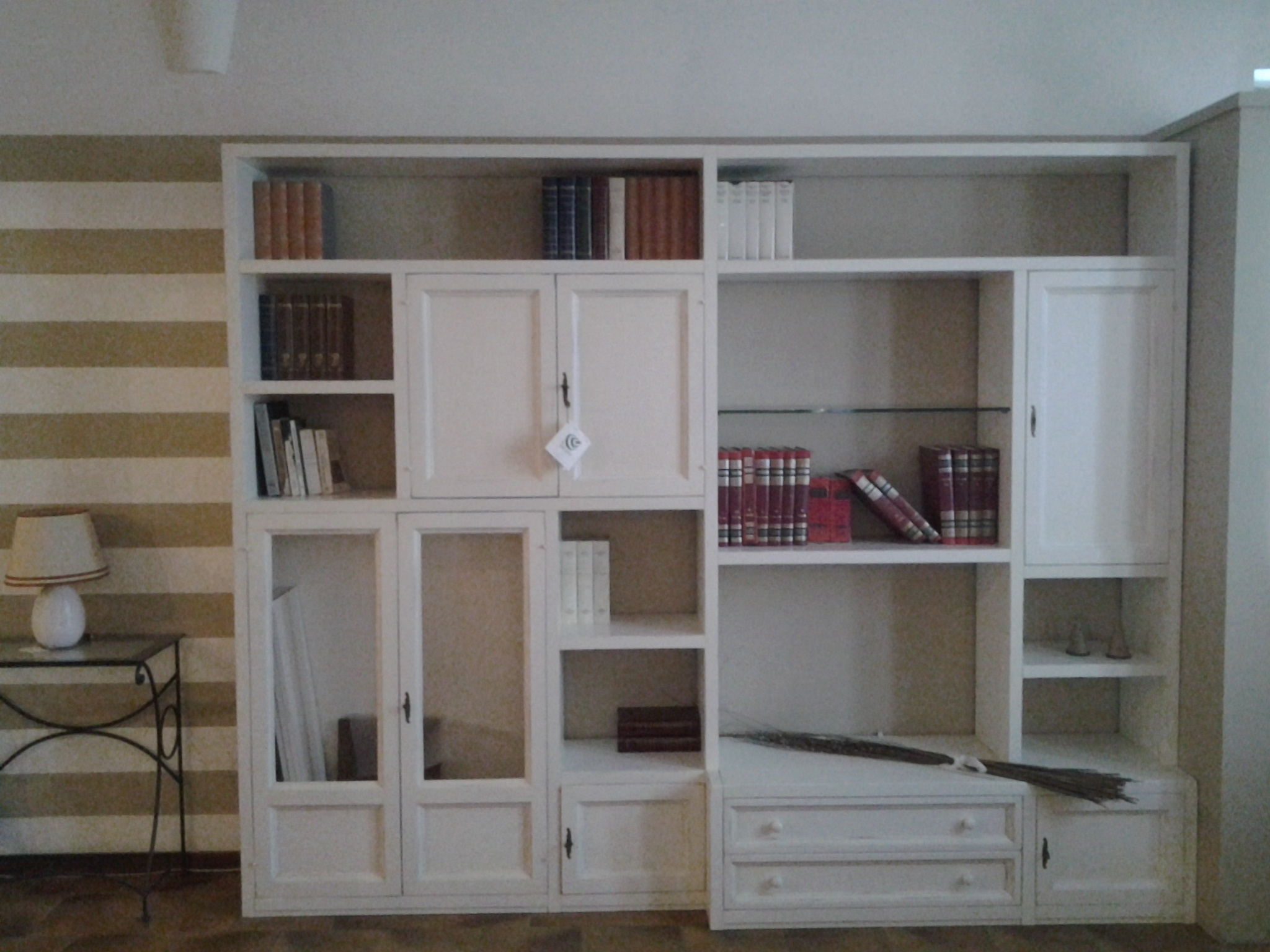 Pacema soggiorno tutto legno laccato opaco pareti for Soggiorno legno