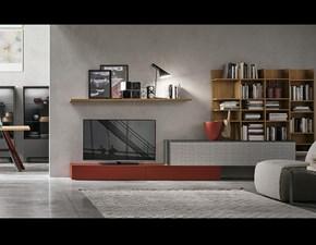 Parete attrezzata A114 Tomasella in stile moderno a prezzo ribassato