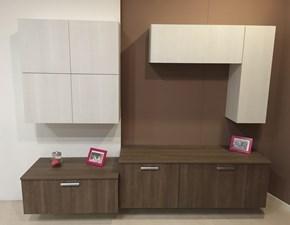 Parete attrezzata Alma Creo kitchens in laminato materico in Offerta Outlet