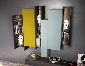 Parete soggiorno moderno lineare vintage e seta bronzo con for Mobili modo10 prezzi