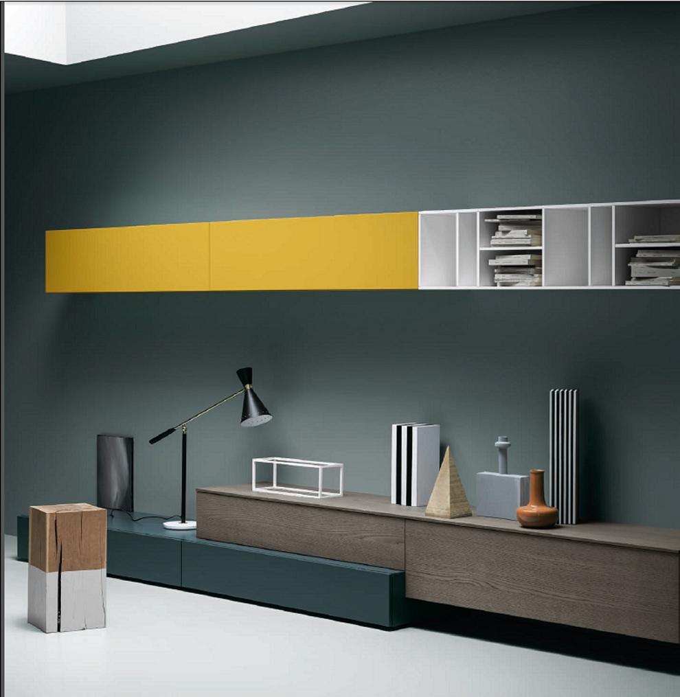 Soggiorno parete da design anche su misura scontato del for Parete da soggiorno