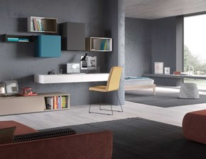 Parete attrezzata Day collection Mab in laminato materico in Offerta Outlet