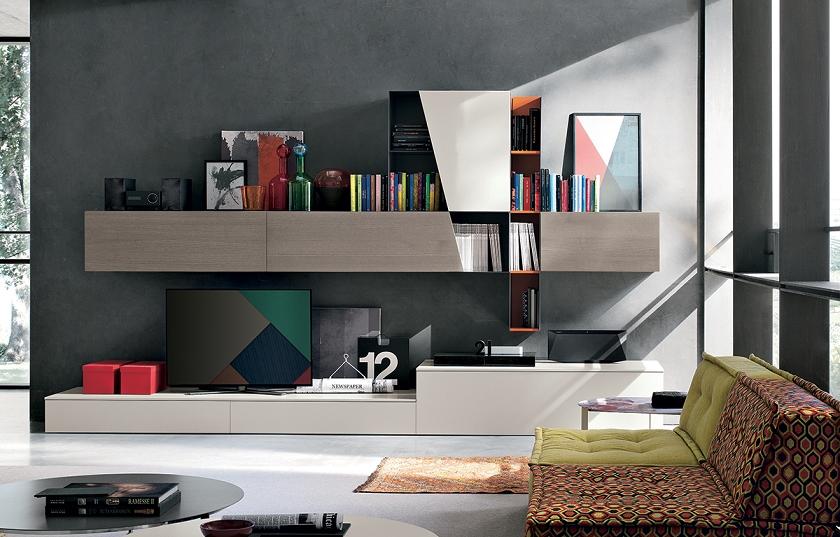Parete attrezzata di design tomasella scontata del 34 - Tomasella mobili soggiorno ...