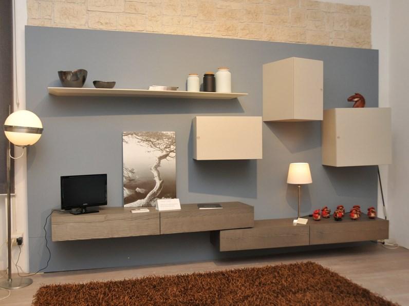 Parete attrezzata di presotto italia in legno in offerta for Presotto parete attrezzata