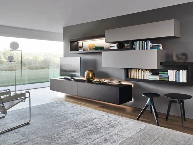 parete attrezzata di sangiacomo in laccato opaco a prezzo outlet. Black Bedroom Furniture Sets. Home Design Ideas