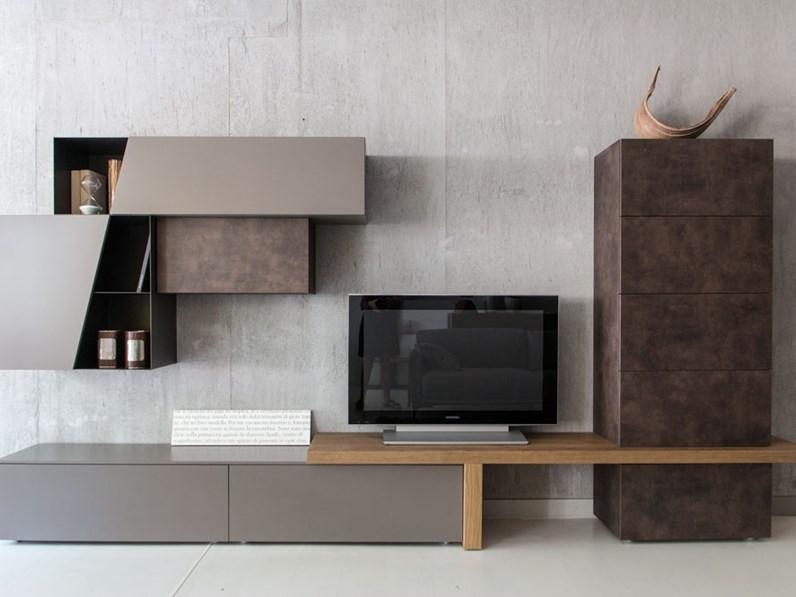 Parete Mobili Porta Tv Design.Parete Attrezzata E Porta Tv Tomasella Outlet