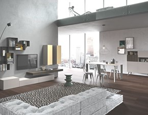 Parete attrezzata Ed004 in stile Moderno in laccato opaco di Alpe