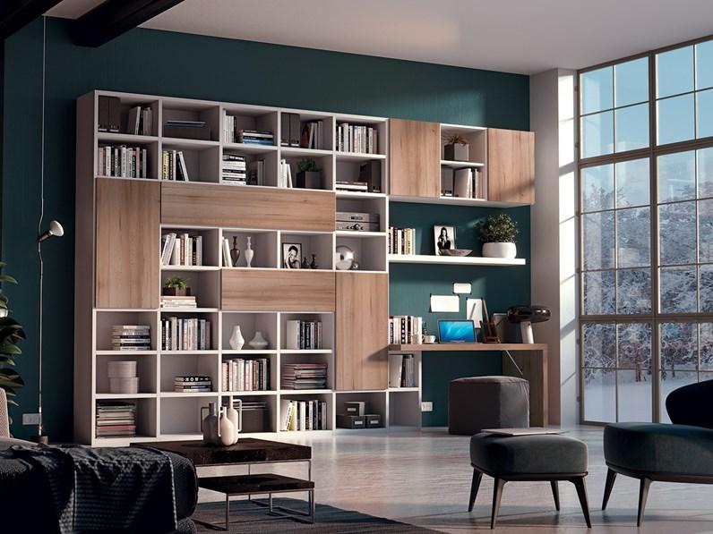 Libreria / parete attrezzata in legno massello Libreria 6 By ...