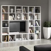 libreria con vano porta tv