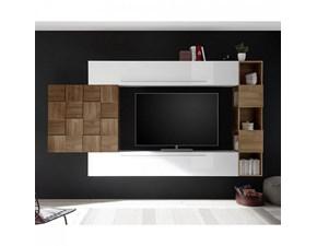 Parete attrezzata in laccato lucido stile moderno Infinity 075 Lc mobili