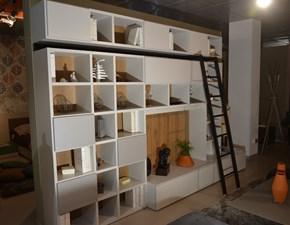 Parete attrezzata in laccato opaco stile moderno Living system Novamobili