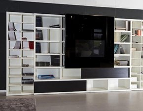 Parete attrezzata in laccato opaco stile moderno Md house di Md house