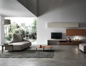 Parete attrezzata in laminato materico stile moderno Innova living Santa lucia
