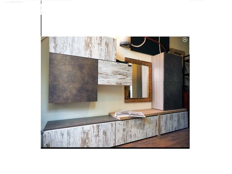 Pareti Di Legno Prezzi : Parete attrezzata in legno soggiorno vintage e bronzo a prezzo outlet