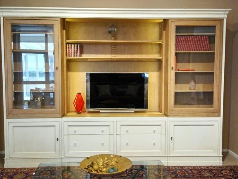 Parete attrezzata in legno stile classico Am classic Artigianale