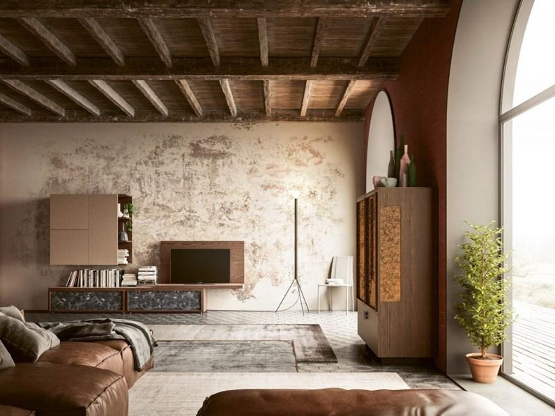 Parete attrezzata in legno stile design Day 12 San michele