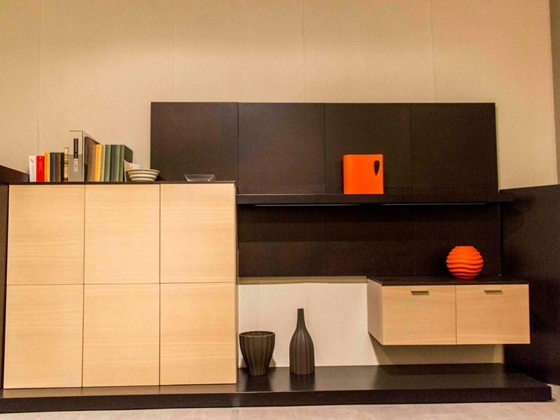 Parete attrezzata in legno stile moderno Design As home