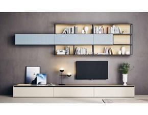 Parete attrezzata in legno stile moderno Outline o-03 Novamobili