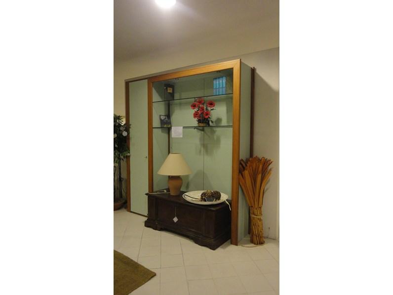 Parete attrezzata in legno stile moderno soggiorno artigianale for Soggiorno stile moderno