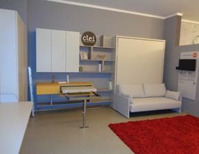 Parete attrezzata in melamminico stile moderno Penelope 2 sofa Clei