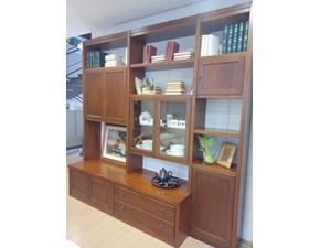 Parete attrezzata in stile classico Mirandola in legno Offerta Outlet