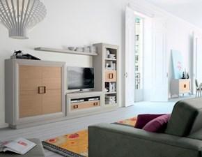 Parete attrezzata in stile design Artigianale in legno Offerta Outlet