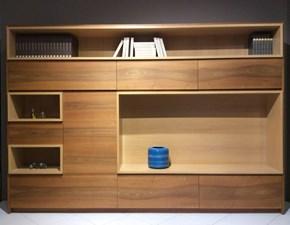 Parete attrezzata in stile design Bamax in legno Offerta Outlet