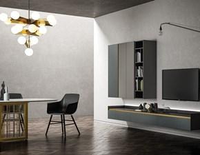 Parete attrezzata in stile design Dall'agnese in laccato opaco Offerta Outlet