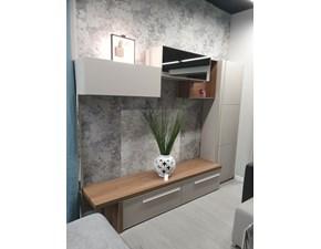 Parete attrezzata in stile design Gierre mobili in laminato materico Offerta Outlet