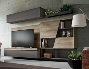 Parete attrezzata in stile design Md work in metallo Offerta Outlet
