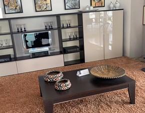 Parete attrezzata in stile design Morassutti in laccato lucido Offerta Outlet