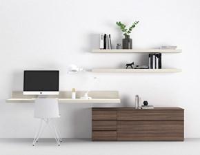 Parete attrezzata in stile design Novamobili in melamminico Offerta Outlet