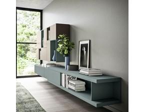 Parete attrezzata in stile design Orme in laccato opaco Offerta Outlet