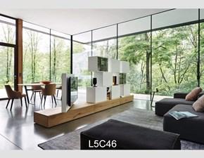 Parete attrezzata in stile design Sangiacomo in legno Offerta Outlet