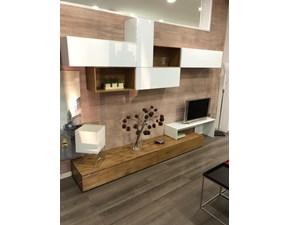 Parete attrezzata in stile moderno di Fgf in legno Offerta Outlet