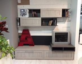 Parete attrezzata in stile moderno Stosa cucine in laminato materico Offerta Outlet