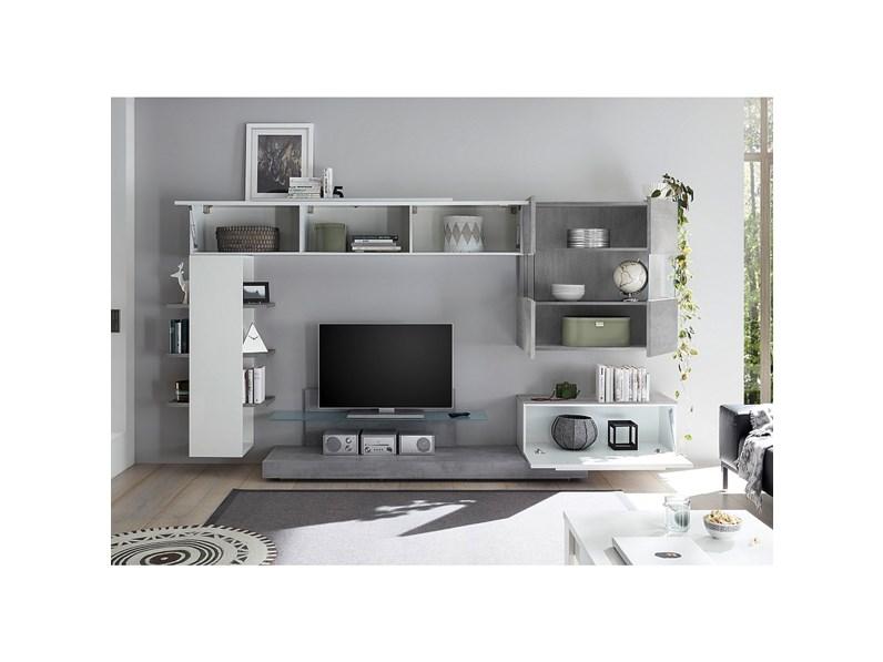 Parete attrezzata infinity 052 lc mobili offerta outlet for Outlet dei mobili