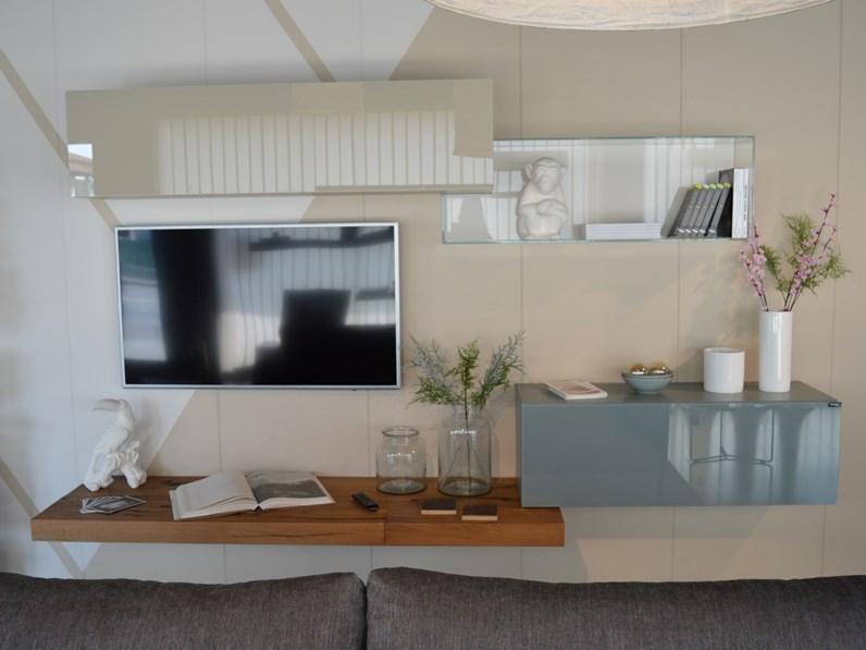 Parete attrezzata lago in vetro 36e8 a prezzo outlet for Prezzi lago design