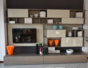 Parete Attrezzata Design Moderno Kreo.Outlet Soggiorni Prezzi In Offerta Sconto 50 60