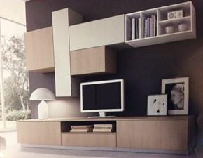 Orme soggiorno living laccato opaco pareti attrezzate for Parete attrezzata living