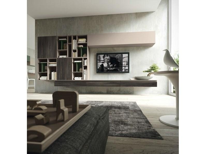 parete attrezzata living space siloma in stile moderno a