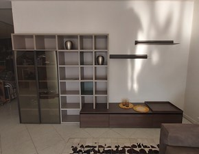 Parete attrezzata Living system Novamobili in stile design a prezzo scontato