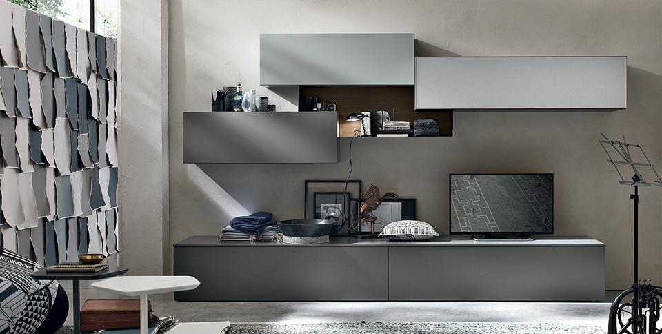 parete attrezzata moderna tomasella scontata del 33 soggiorni a prezzi scontati. Black Bedroom Furniture Sets. Home Design Ideas