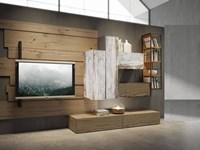 Pareti Di Legno Prezzi : Parete attrezzata outlet etnico in legno a prezzo outlet