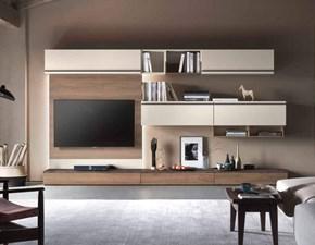 Parete attrezzata Soggiorno disponibile diversi colori alta qualita Md work in laccato opaco in Offerta Outlet