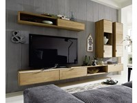 Parete attrezzata soggiorno in legno massello sconto -48%