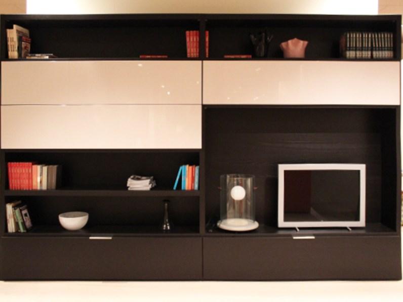 Libreria moderna soggiorno Domino di Move scontata del 74%