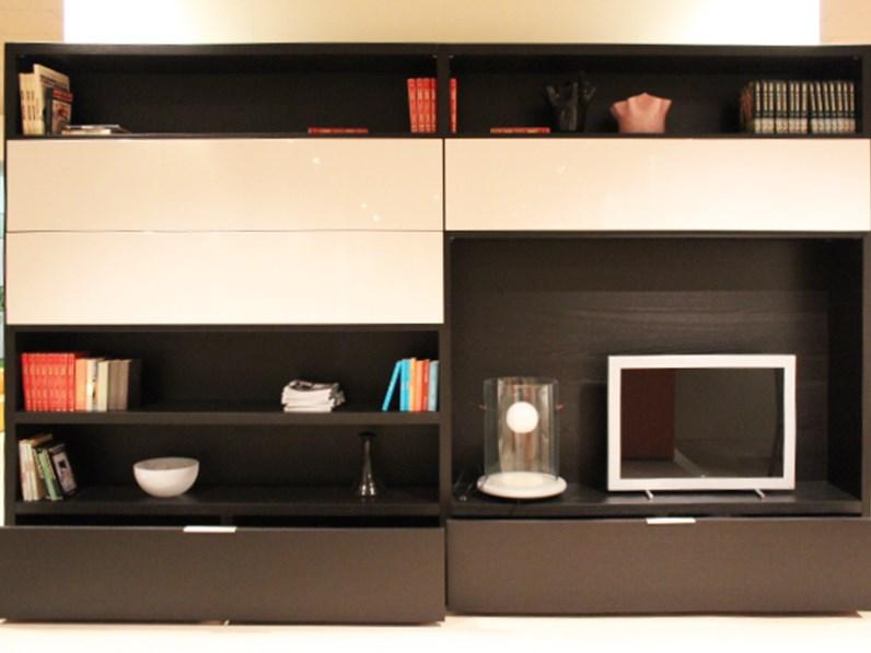 Libreria moderna soggiorno domino di move scontata del 74 for Domino arredamenti