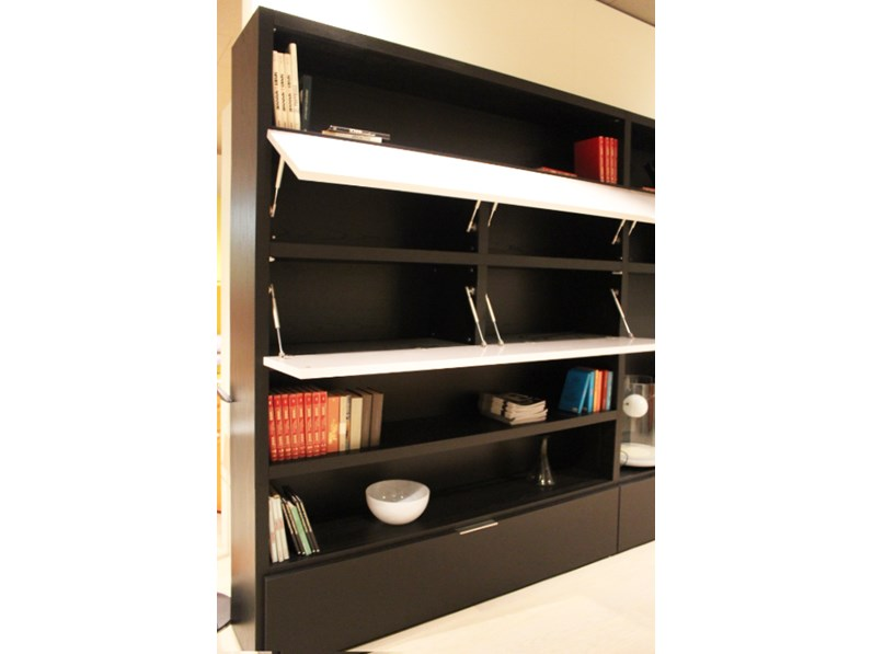 Libreria moderna soggiorno domino di move scontata del 74 for Parete attrezzata moderna outlet