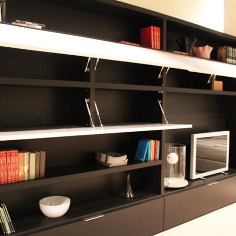 Libreria moderna soggiorno domino di move scontata del 60 for Domino arredamenti